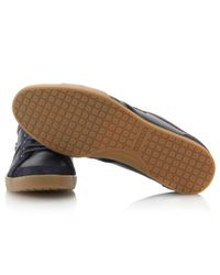 Lacoste Blue Rayford Stripe Logo Trainers for men