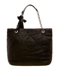 Lanvin Black Amalia Quilted Tote Bag