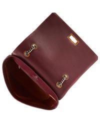 Lanvin Brown Medium Burgundy Happy Shoulder Bag