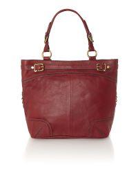 Linea Weekend Red Martha Tote Bag
