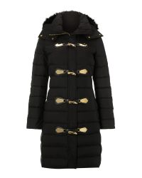 MICHAEL Michael Kors Black Long Sleeve Padded Coat with Toggles