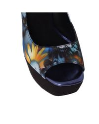 Nine West Black Prettyprim2 Peep Toe Shoes