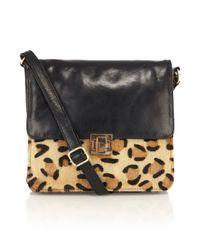 Oasis Black Tilbury Leopard Cross Body Bag