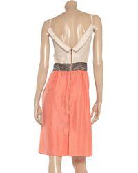 Roland Mouret Pink Marian Washedsilk Dress