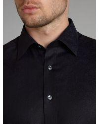 Simon Carter Blue Paisley Jacquard Slim Fit Shirt for men