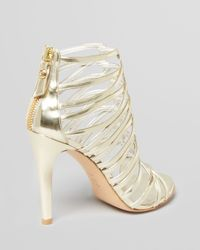 Stuart Weitzman Metallic Evening Sandals Loops High Heel