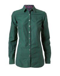 Tommy Hilfiger Green Aukje Stripe Shirt