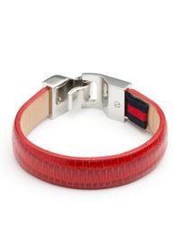 Tommy Hilfiger Red Leather Bracelet