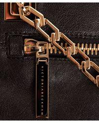 Victoria Beckham Black Soft Bag On Chain