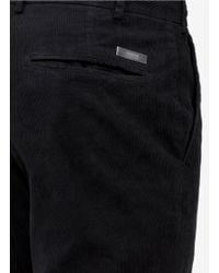 Armani Black Slim-fit Cotton-corduroy Pants for men