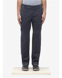 Armani Gray Straight-leg Cotton Chino Pants for men