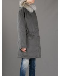 Army by Yves Salomon Gray Fur Lined Parka