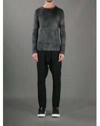 Avant Toi Gray Knitted Sweater for men