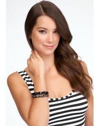 Bebe - Black Bling Bracelet Set - Lyst