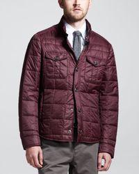 Brunello Cucinelli Purple Thermore Milano Puffer Jacket for men