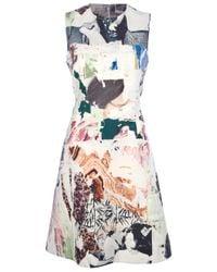Carven Multicolor Sleeveless Graphic Dress