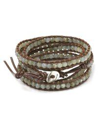 Chan Luu - Metallic Semiprecious Stone-embellished Leather Wrap Bracelet - Lyst