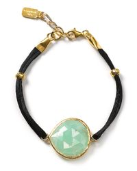Coralia Leets | Green Silk Gemstone Bracelet | Lyst