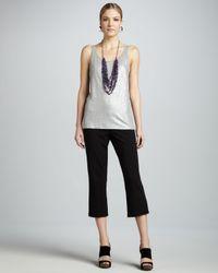Eileen Fisher Black Cropped Yoga Pants