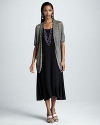 Eileen Fisher Black Long Jersey Dress Petite