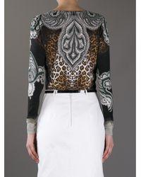 Etro Black Leopard Print Sweater