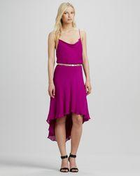 Haute Hippie Purple Belted Hilo Dress