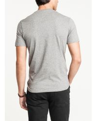 Mango Gray Printed Cotton Tshirt for men