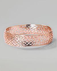 Ippolita - Pink Rose Digital Lace Wavy Bangle - Lyst