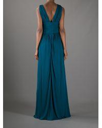 Issa Green Long Vneck Dress