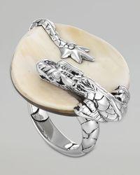 John Hardy | Metallic Naga Silver Buffalo Horn Ring | Lyst