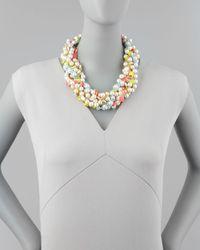 kate spade new york - Multicolor Bungalow Bouquet Twist Necklace - Lyst