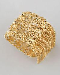 Kendra Scott - Metallic Ivy Fringe Bracelet Gold - Lyst