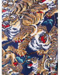 KENZO Multicolor Tiger Print Top