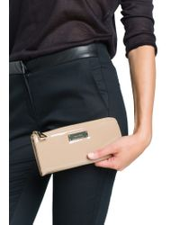 Mango - Natural Patent Effect Wallet - Lyst