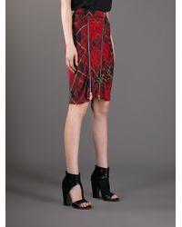 McQ Red Tartan Skirt