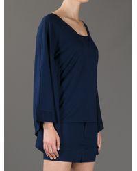 MM6 by Maison Martin Margiela Blue Batwing Dress