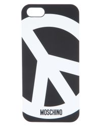 Moschino Black Peace Iphone 5 Case