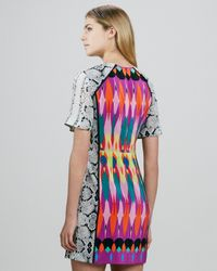 Nanette Lepore Multicolor Fun House Mixprint Dress