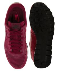 Nike Red Air Pegasus 83 Suede Trainers for men