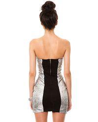 One Teaspoon Metallic The Fifth Element Leather Dress