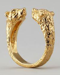Pamela Love - Metallic Small Bear Ring - Lyst