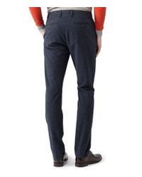 Reiss Blue Townsend Flannel Check Trousers for men