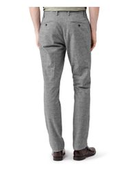 Reiss Gray Townsend Flannel Check Trousers for men