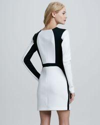 Robert Rodriguez White Twotone Longsleeve Techno Dress