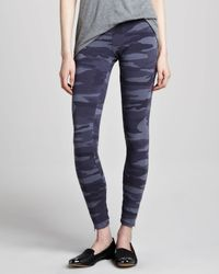 Splendid Black Camouflage Zippercuff Leggings