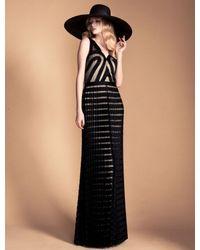 Temperley London - Black Long Ribbon Tulle Dress - Lyst