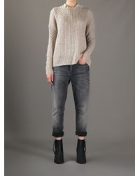 Vince Natural Cable Knit Sweater