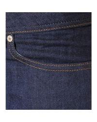 Acne Studios Blue Low Raw Reform Jeans