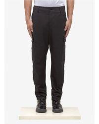 Alexander McQueen Black Cotton-twill Cargo Pants for men