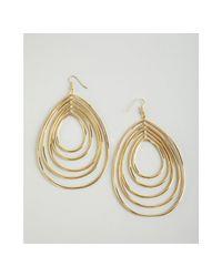 CC SKYE - Metallic Gold Disco Hoop Tiered Wire Drop Earrings - Lyst